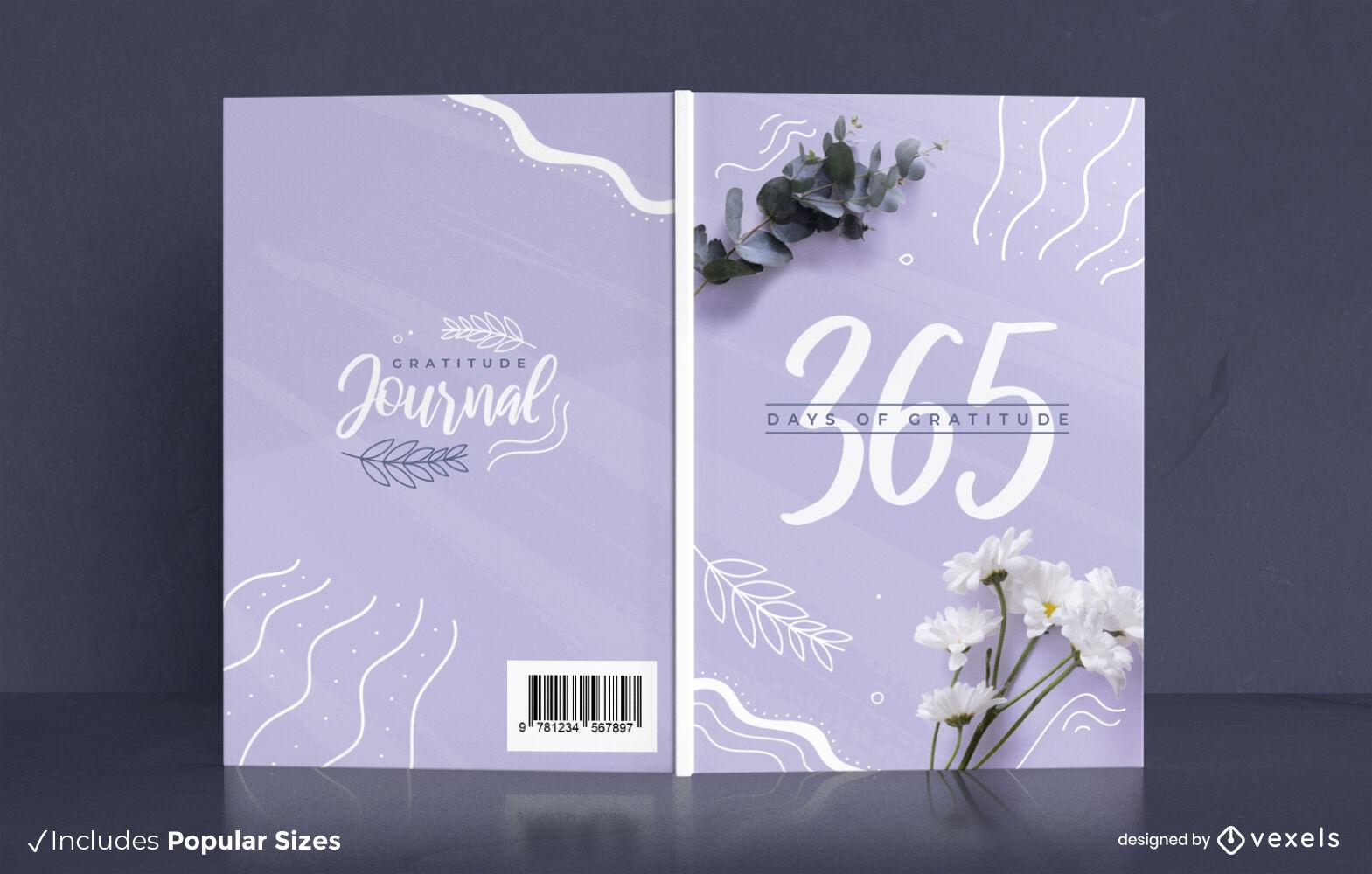 Gratitude journal floral nature cover design