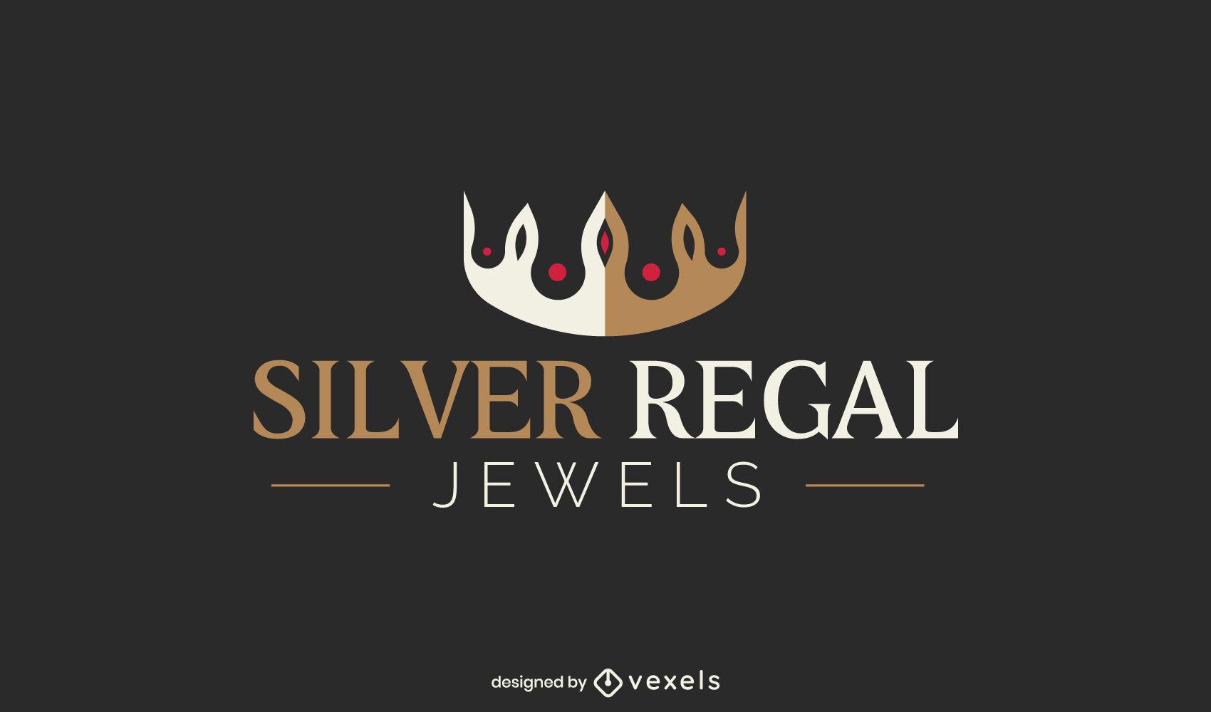 Plantilla de logotipo de empresa de joyería de corona de rey