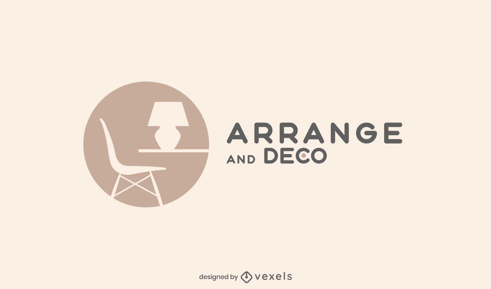 Home decor logo template design