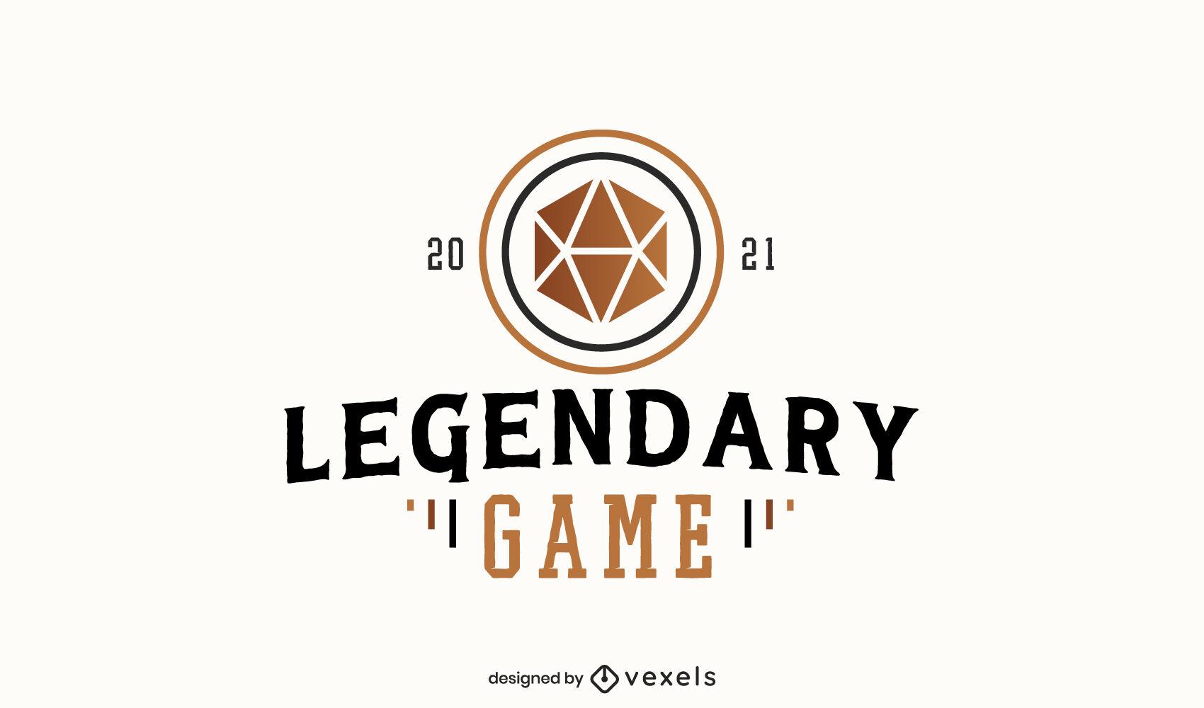 Board game logo template design