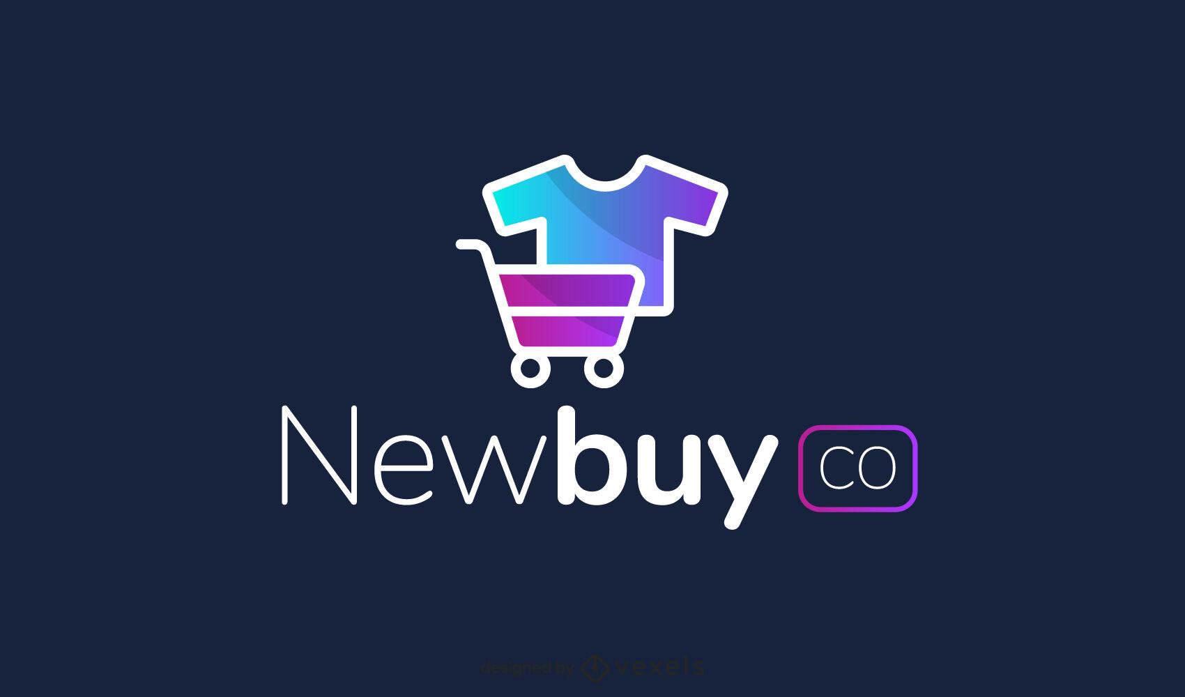 Gradient store logo design