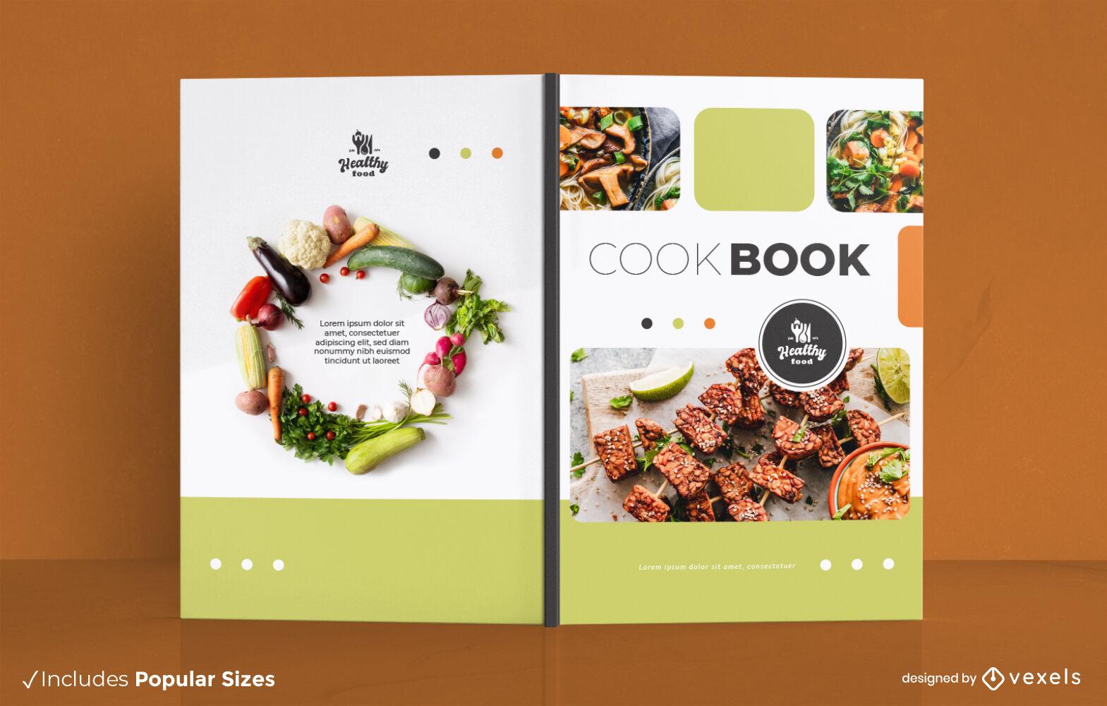 Diseño de portada de libro de recetas de libros de cocina