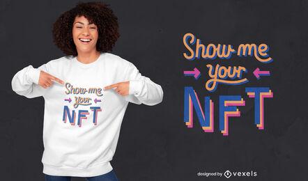Design de camiseta com citação engraçada com tecnologia NFT