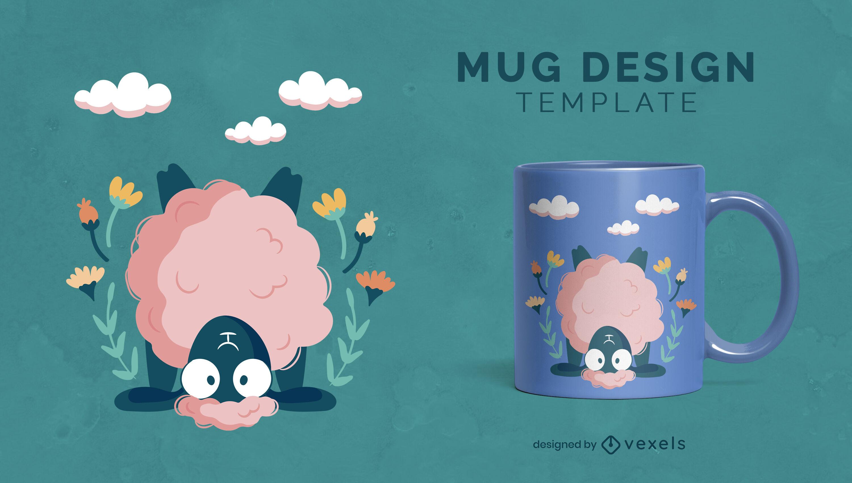 Cute sheep mug design