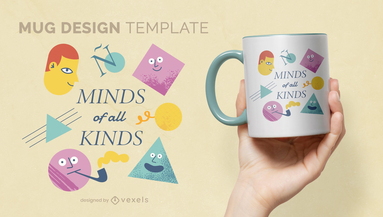 Cute neurodiversity mug design
