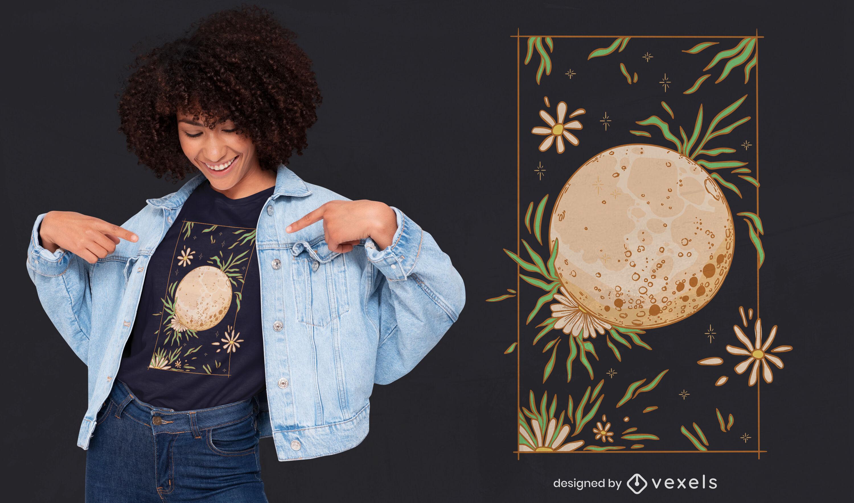 Diseño de camiseta Cottagecore Moon