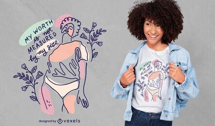 Cooles Body Positivity T-Shirt Design