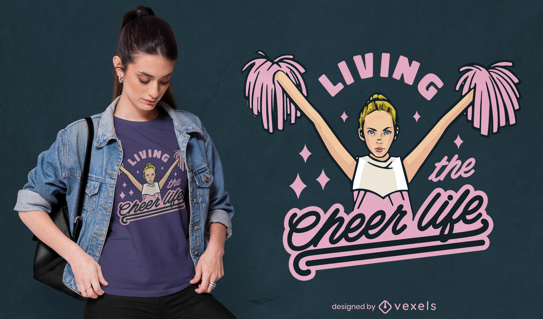Cheerleader life girl t-shirt design