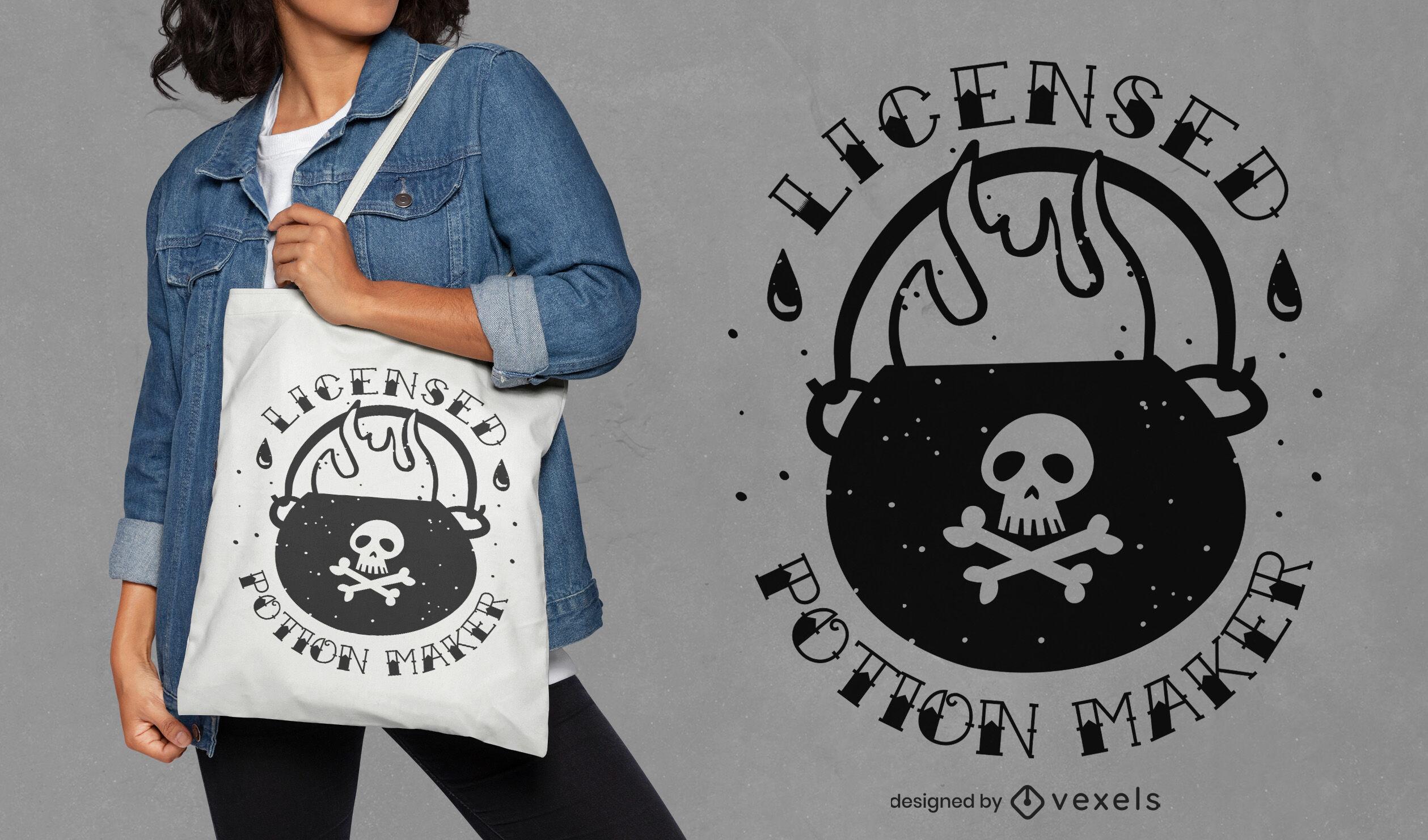 Potion maker tote bag design
