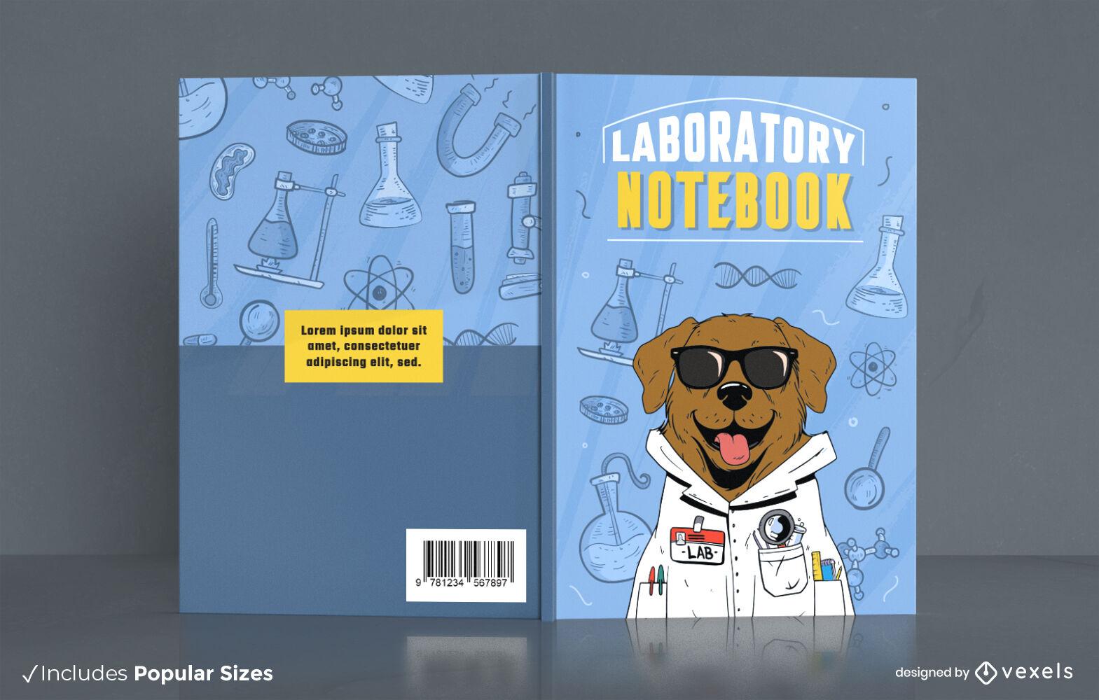 Labrador dog animal scientist cover design