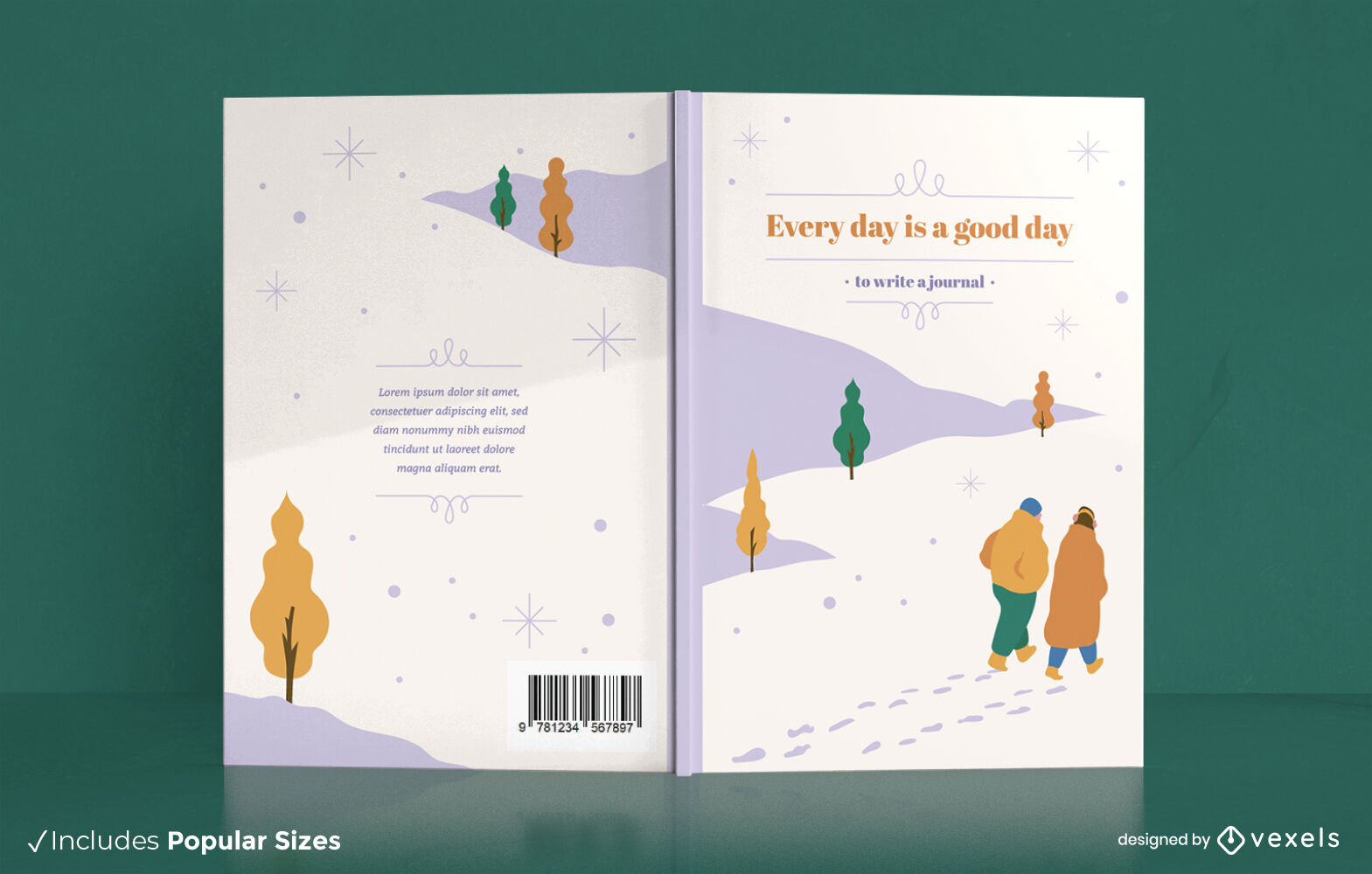 Lovely daily journal couple book cover design