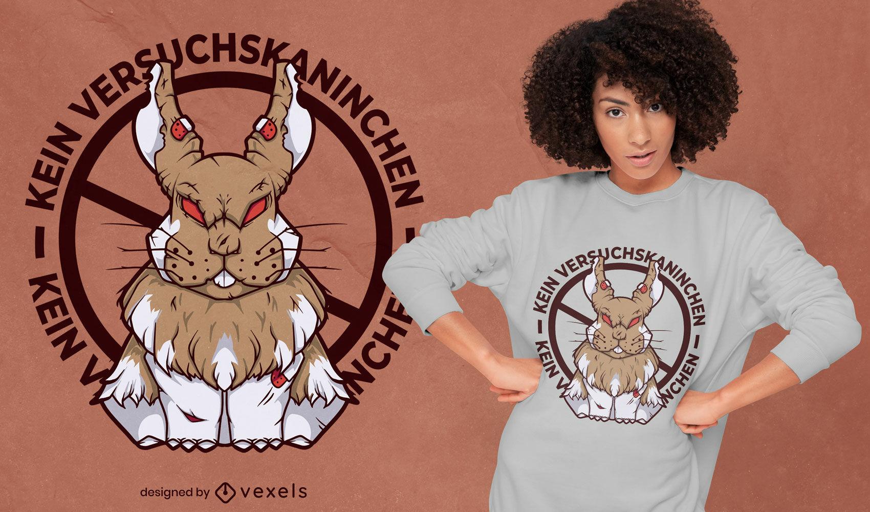 Dise?o de camiseta alemana zombie rabbit