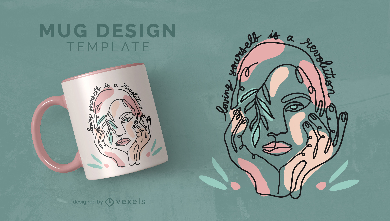 Cool body positivity mug design