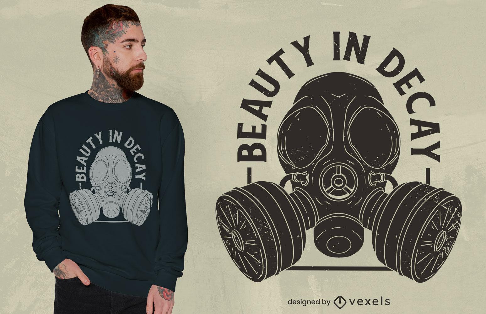 Explorer with gas mask t-shirt design