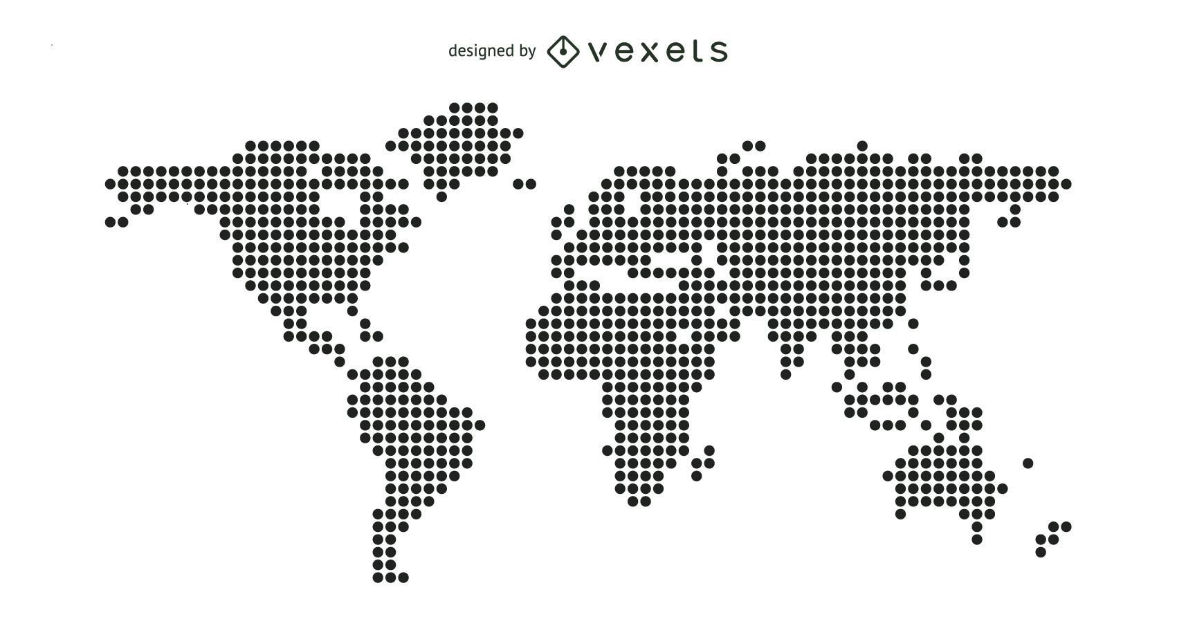 Dotted world map vector download dotted world map download large image 1701x921px license image user by vexels svg gumiabroncs Image collections