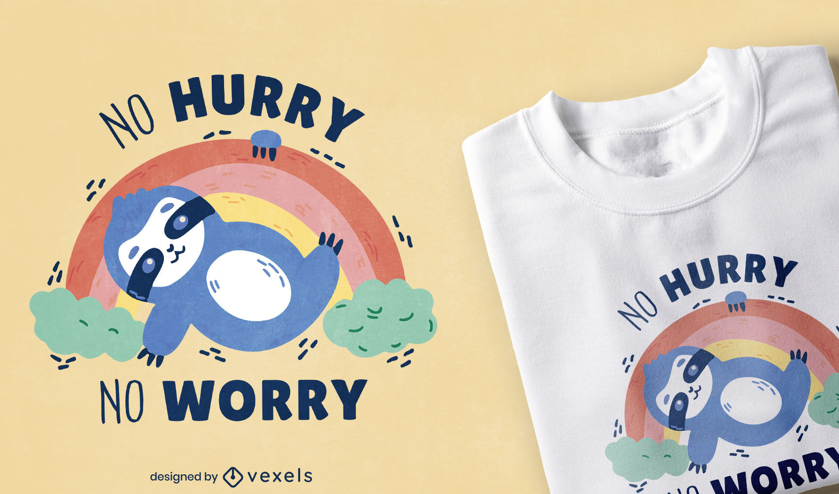 Sweet sloth quote t-shirt design