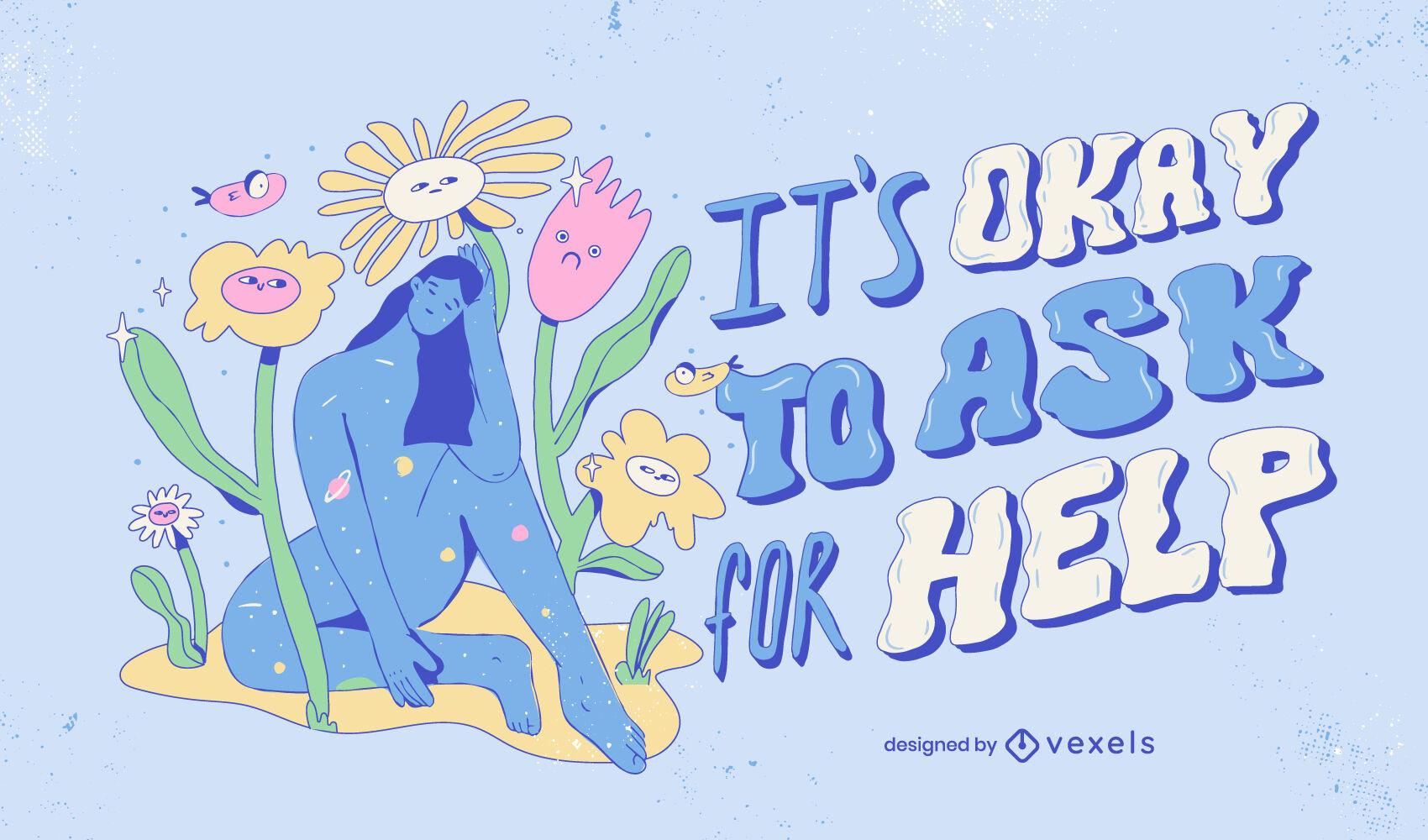 Motivational neurodiversity illustration design