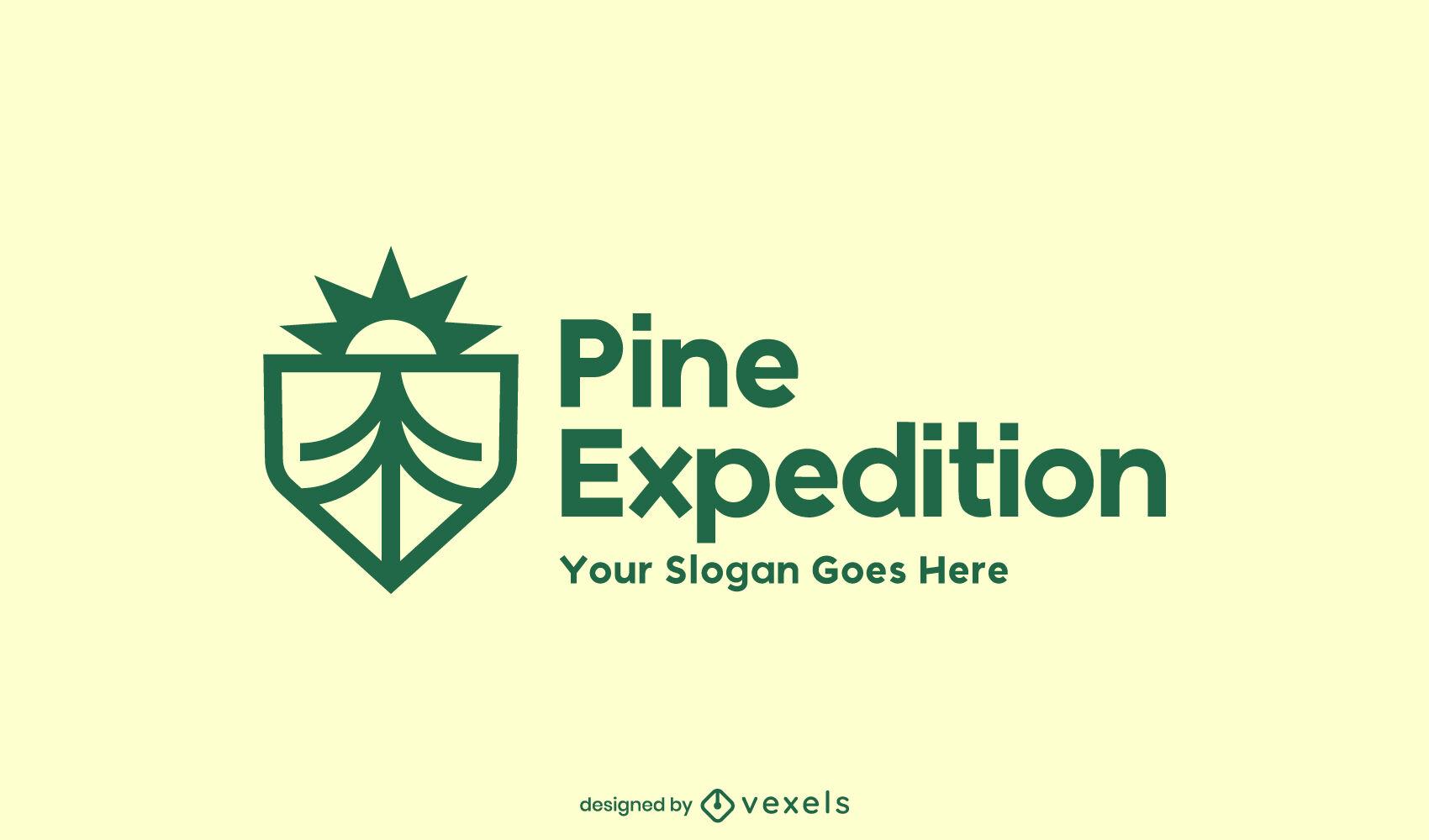 Gran dise?o de logotipo de pino