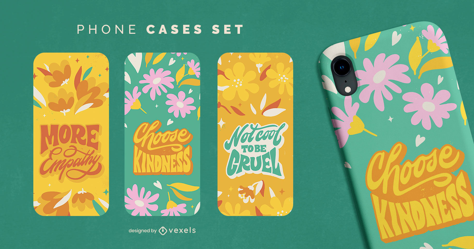 Neurodiversity quotes phone cases set design