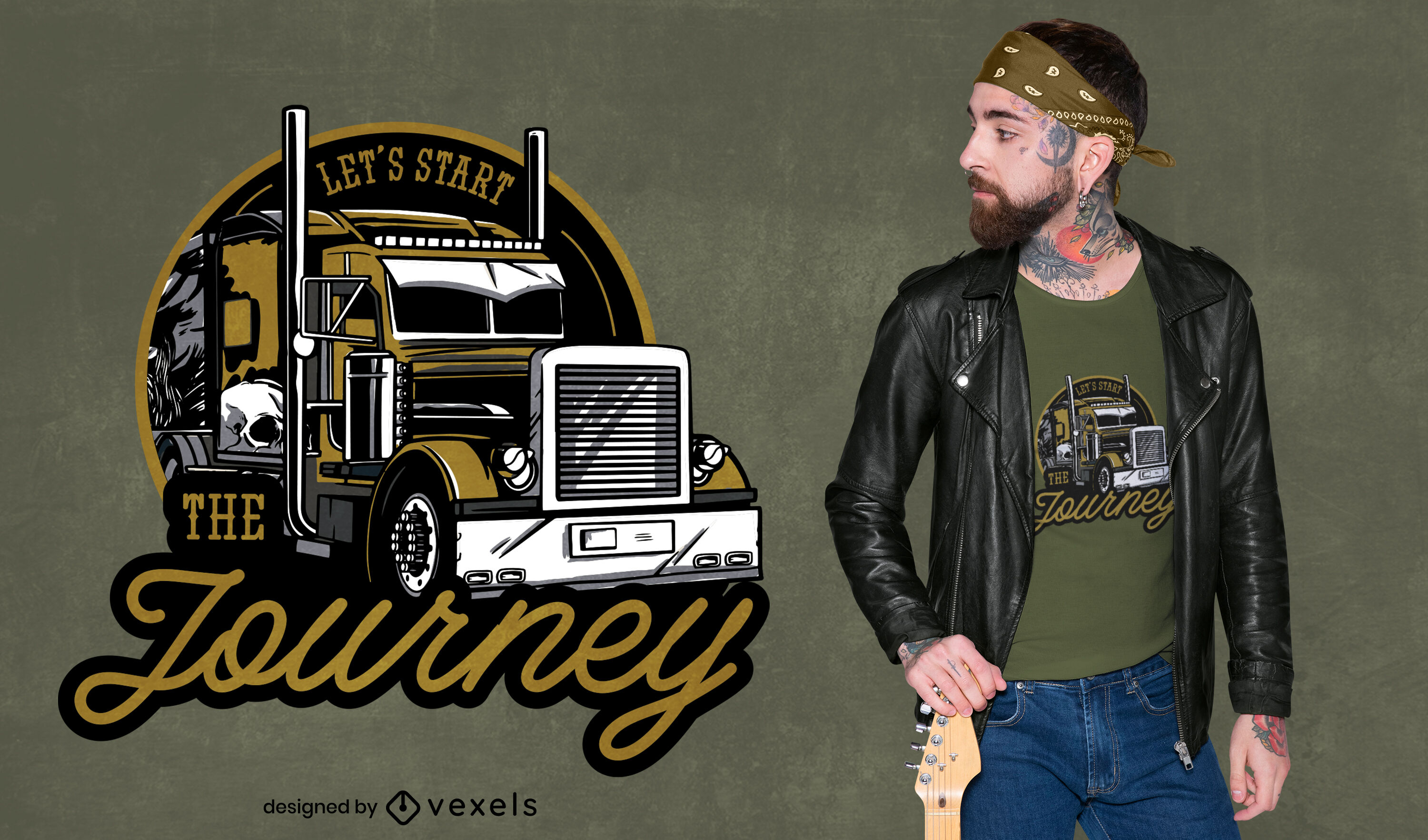 Cool truck quote t-shirt design