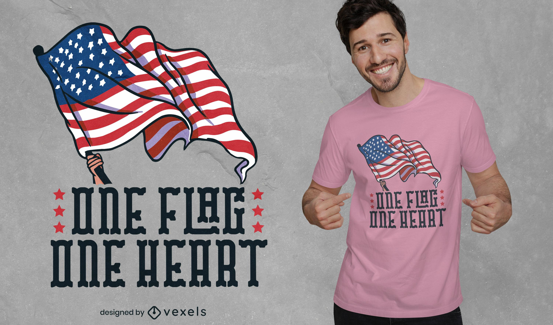 One flag patriot t-shirt design