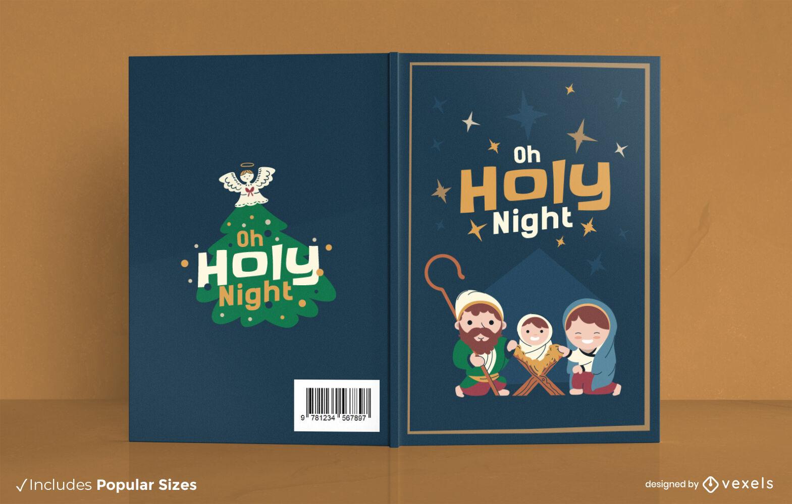 Lindo diseño de portada de libro de Navidad