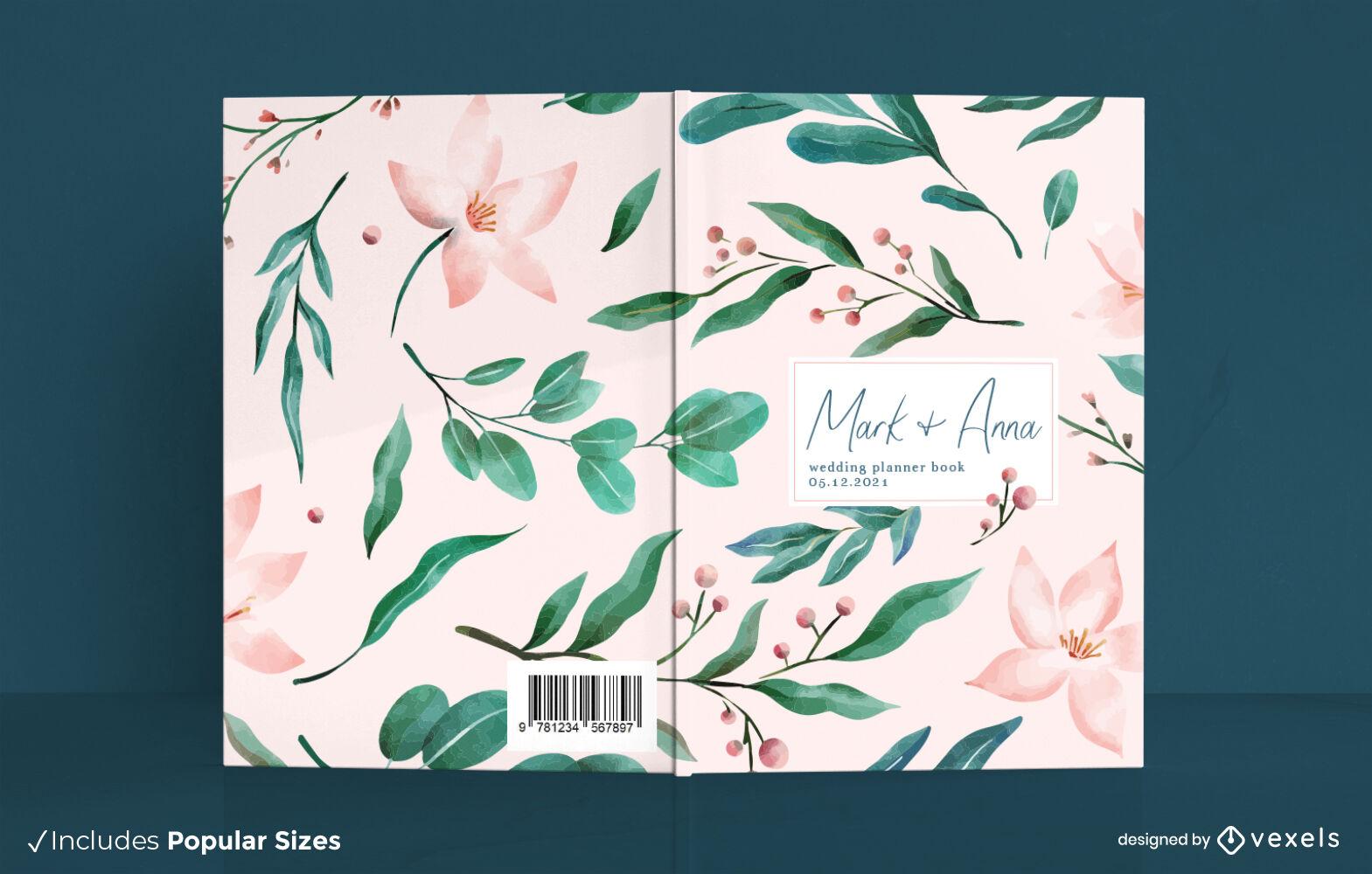 Beautiful planner book cover design