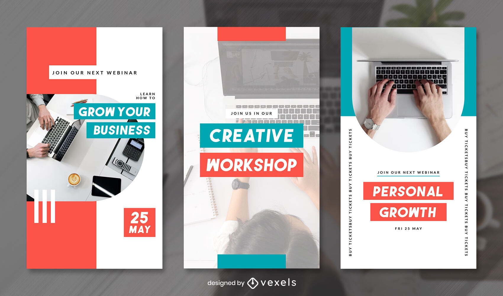 Geometric and color shapes with pictures instagram story template
