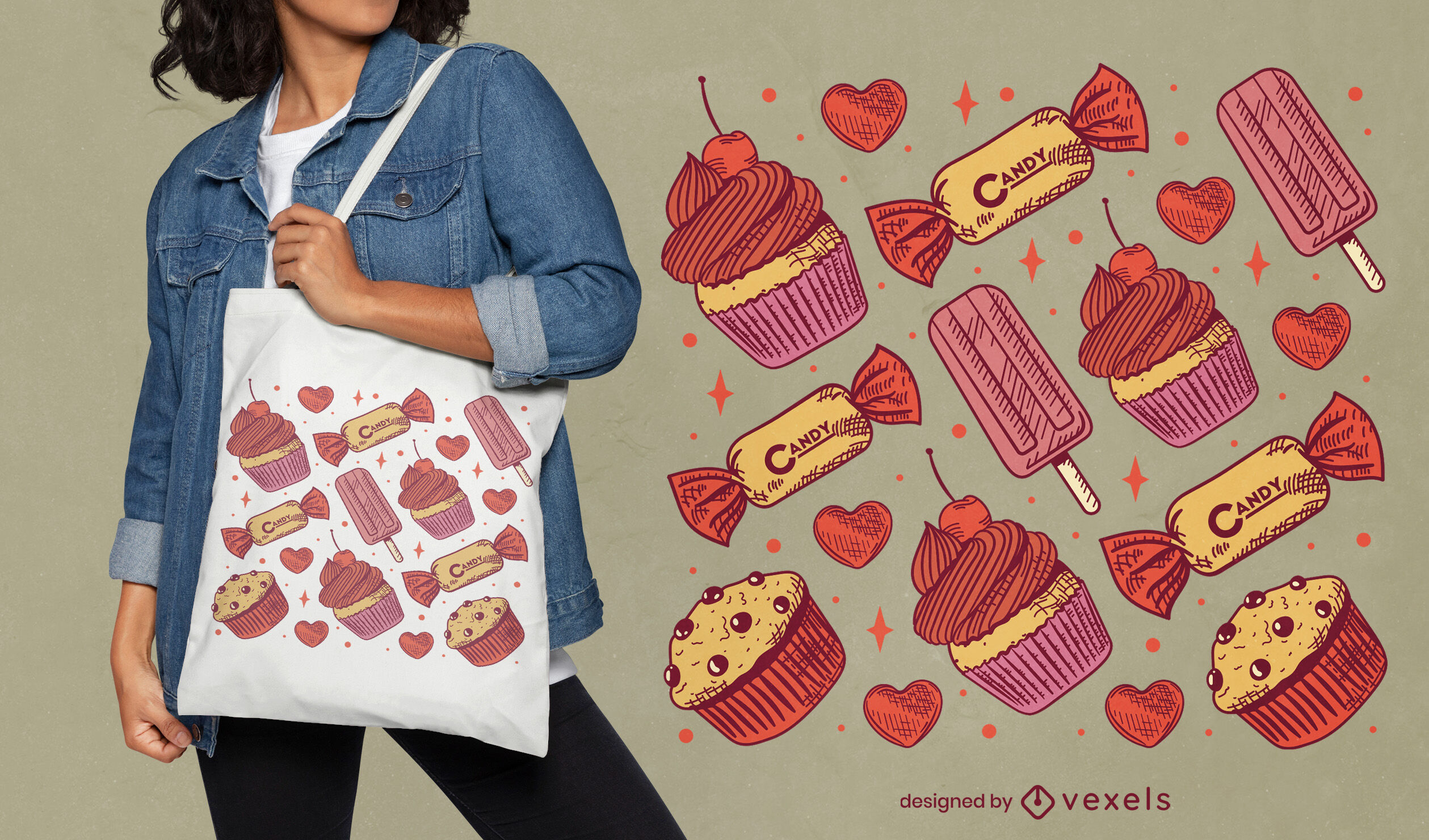 Design de sacola de doces
