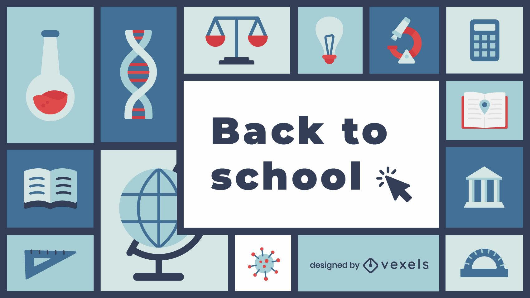 Gran diseño de ilustración de regreso a la escuela