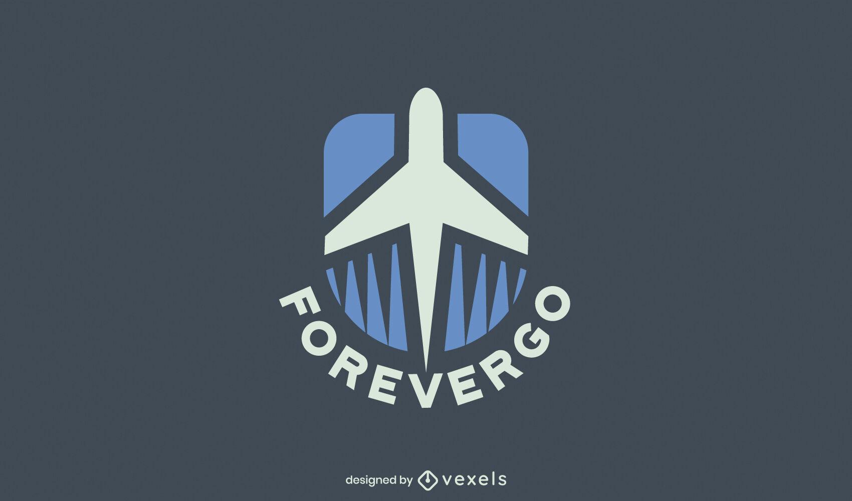 Ótimo design de logotipo de avião