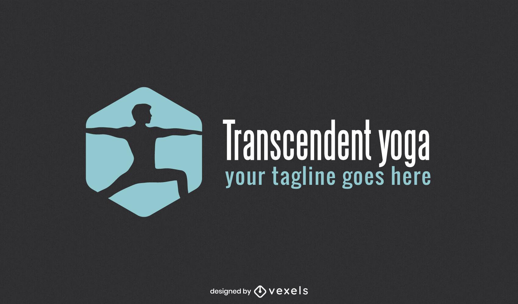 Gran dise?o de logo de yoga