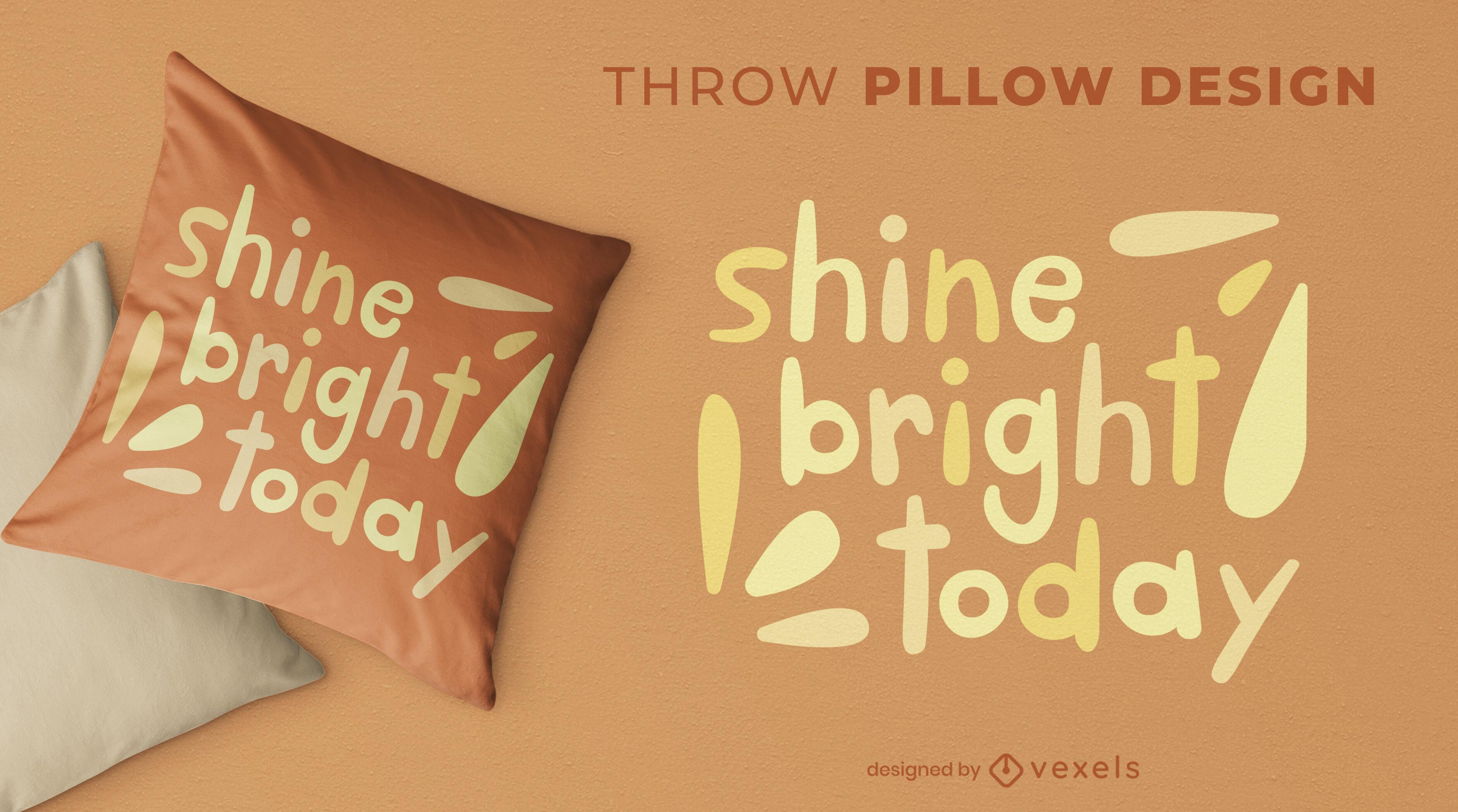 Cute shine bright throw pillow design