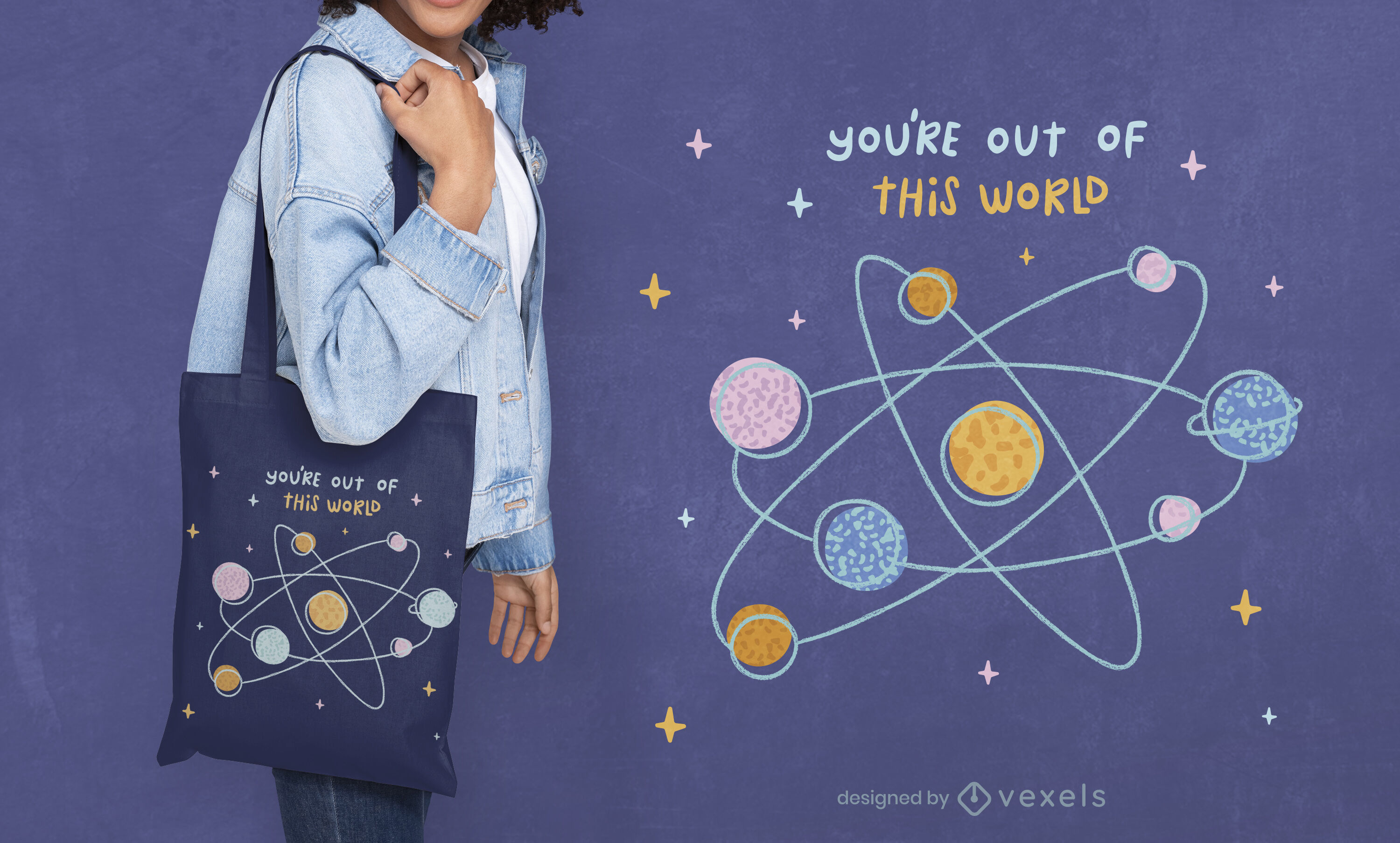 Out of this world tote bag design