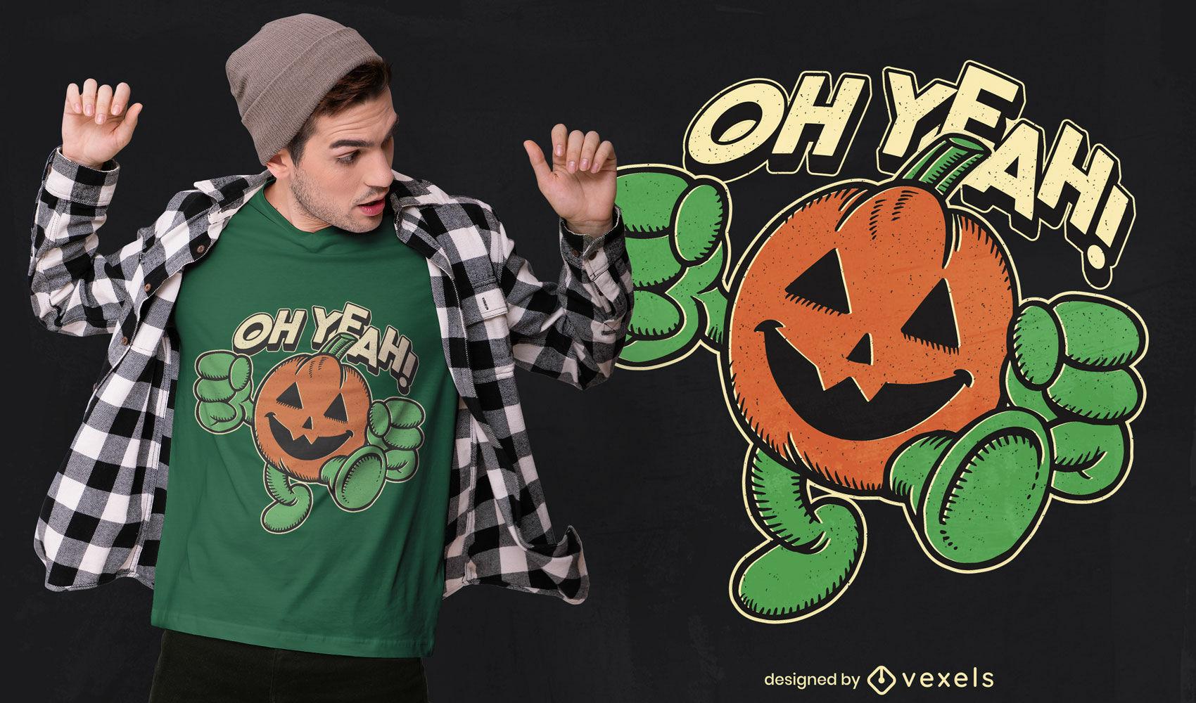 Halloween pumpkin yeah t-shirt design