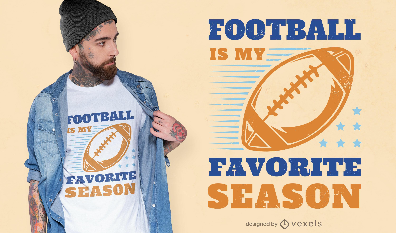 Dise?o de camiseta de la temporada de f?tbol americano.