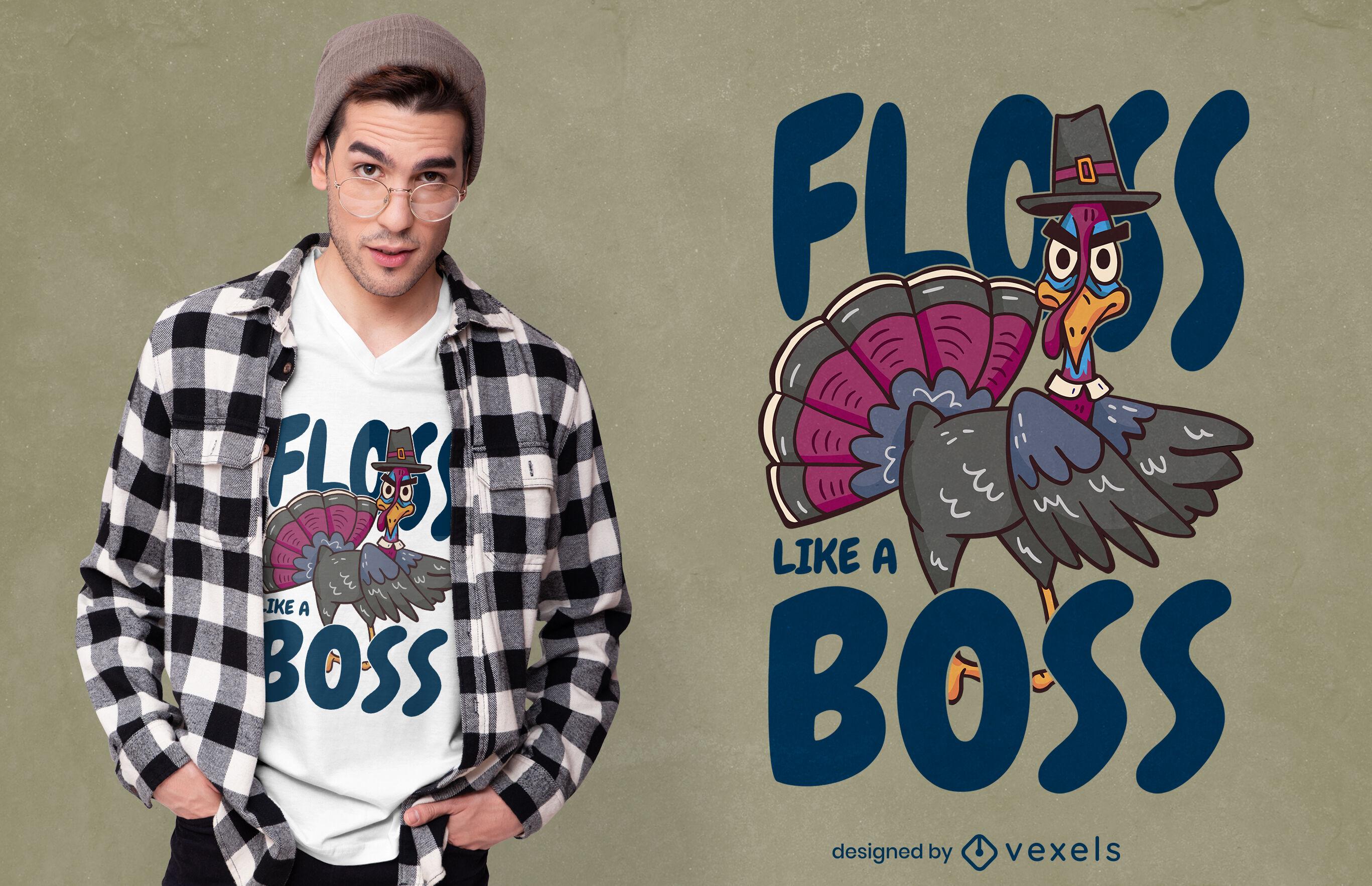 Angry turkey cartoon animal t-shirt design