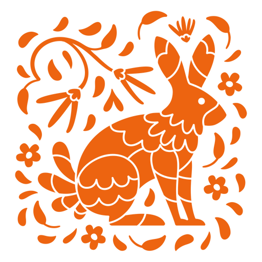 Day of the dead bunny design cut out