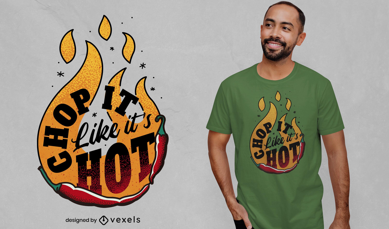 Dise?o de camiseta hot chili cooking