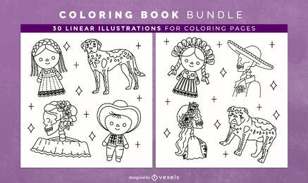 Day of the dead coloring book interior design