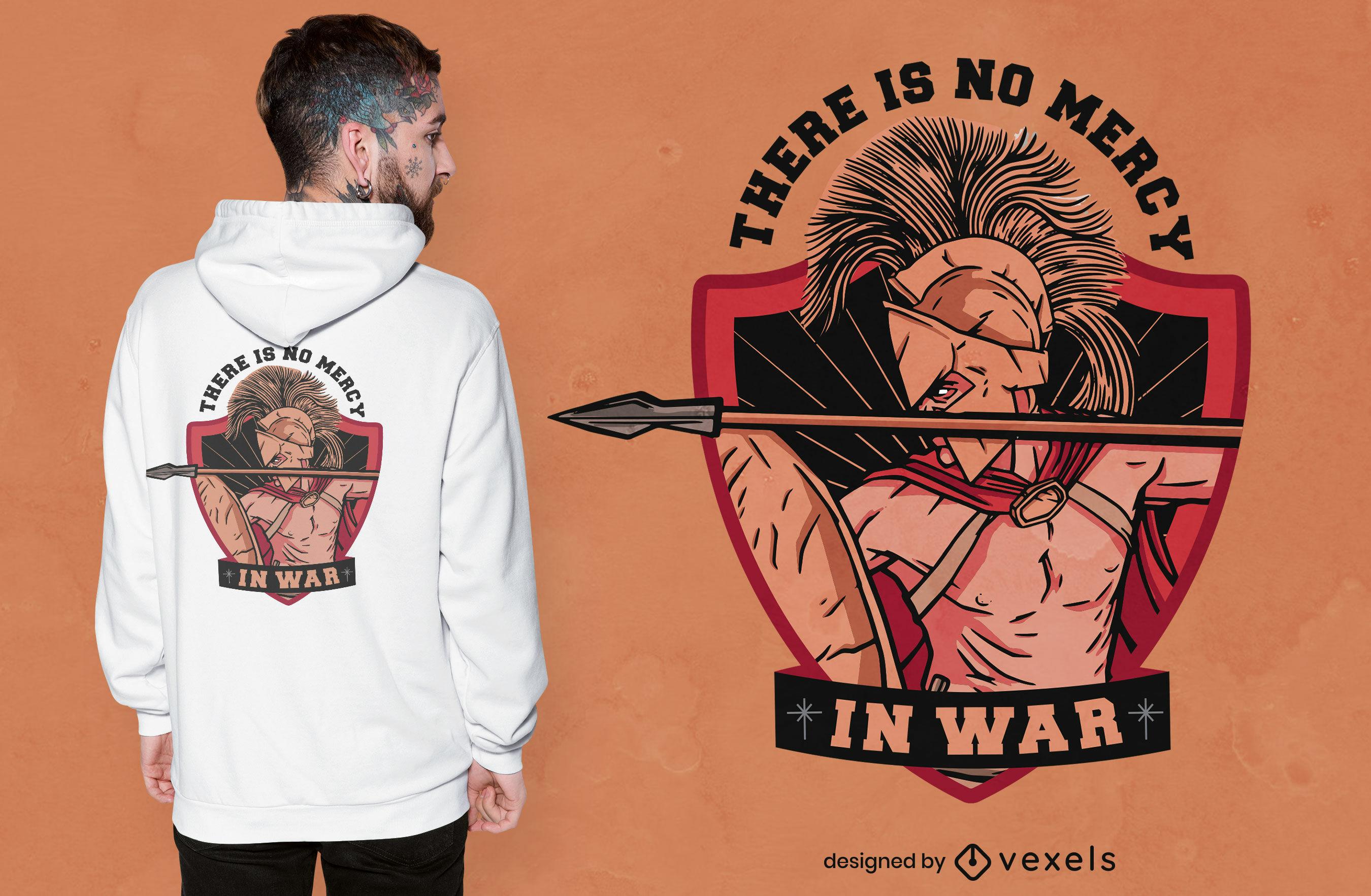 Dise?o de camiseta con cita de misericordia de guerrero