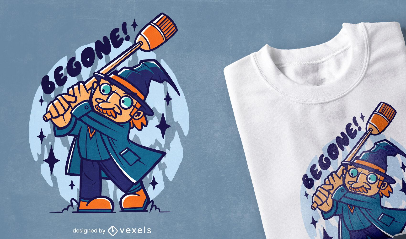 Cute wizard t-shirt design