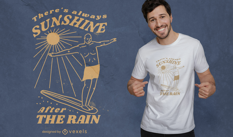 Diseño de camiseta de cita de neurodiversidad de sol.