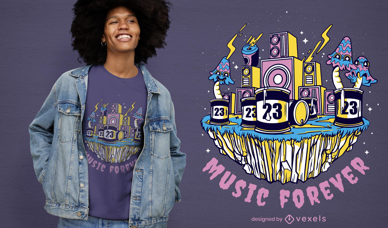 Music forever t-shirt design