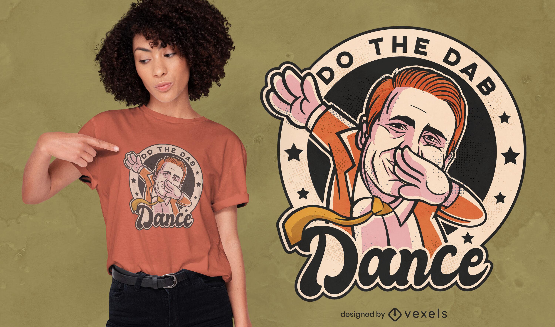 Diseño divertido de camiseta dab dance