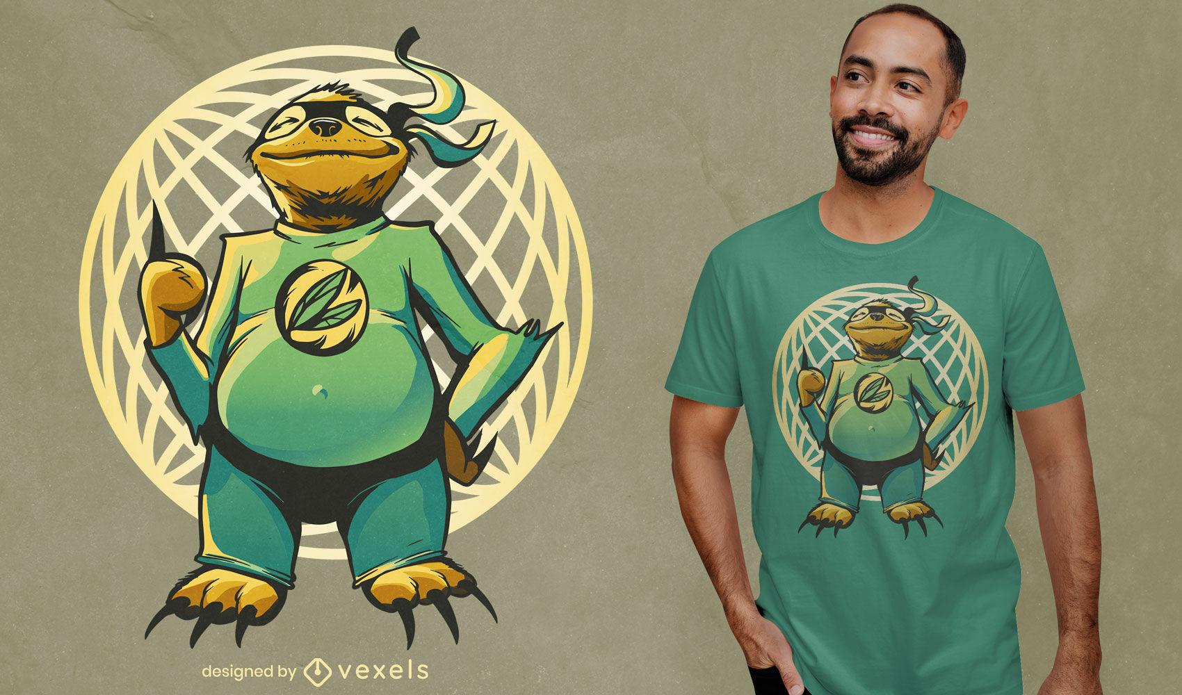 Funny super sloth t-shirt design
