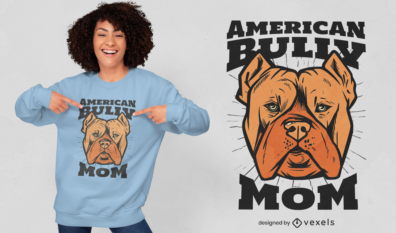Cool American bully t-shirt design