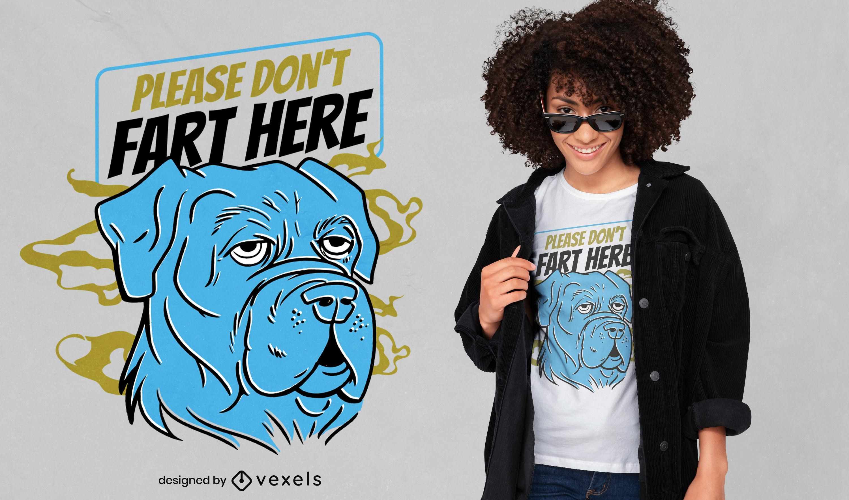 Funny fart dog t-shirt design
