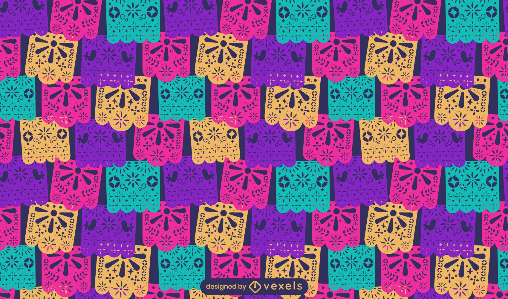 Beautiful pattern papel picado style