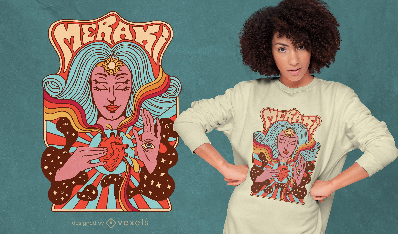 Trippy passion t-shirt design